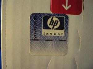 HP Ältestes Hologramm - blaue Verpackung - Produktion vor 2008