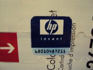 HP Altes Hologramm - blaue Verpackung - Produktion bis 2010