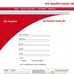 Altes Formular von wir-kaufen-toner.de